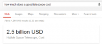 How much does a good telescope cost from Google