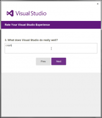 Visual Studio feedback