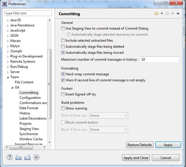 Install and configure git plugin in Eclipse | Pixelstech net