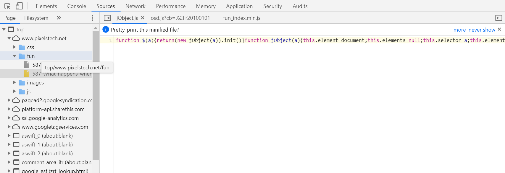 How to use Chome dev tool to find event handler bound to an element