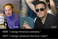 Elon Musk : Now and Then